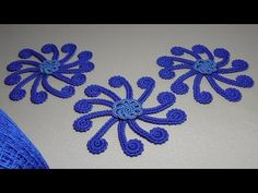 Урок вязания крючком.Элемент для ирландского кружева.Цветок из шнура-гусенички.Irish lace. - YouTube