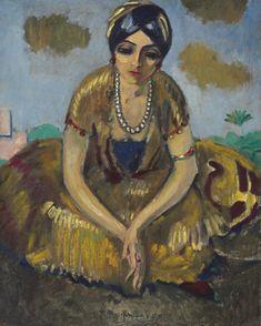 Kees van Dongen (Dutch, 1877-1968) Egyptian Woman with Pearl Necklace (Egyptienne au collier de perles), N/D Oil on canvas