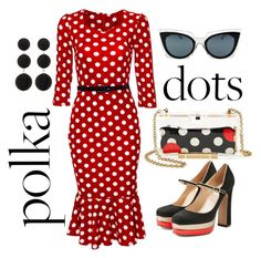 """""""polka dots"""" by mnholdeman on Polyvore featuring Valentino, Fendi, Cara and RED Valentino"""