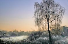 Shillingstone in Dorset    Early-morning frost by the River Stour, on The North Dorset Trailway, approaching The Shillingstone Station Project.    By Graham Rains, from picturesofengland.com