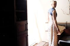 'Love among the ruins' Dress in spotty linen ( Writer's Block, SS2012-13)