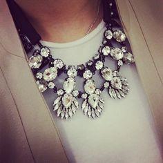 Statement necklace and neutrals