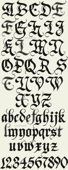 Letterhead Fonts / Dark Horse / Gothic Fonts