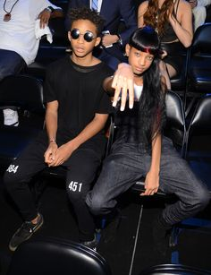 Jaden Smith Photos - Jaden Smith and Willow Smith attend the 2013 MTV Video Music Awards at the Barclays Center on August 25, 2013 in the Brooklyn borough of New York City. - Audience at the MTV Video Music Awards