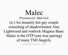 Yes, because Malec is soo fabulous! <3