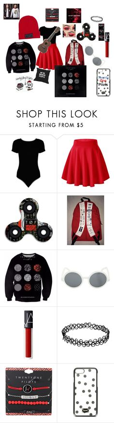 """""""Twenty Øne Piløts Stuff!!!"""" by thecarograce ❤ liked on Polyvore featuring Boohoo, Hot Topic and Dolce&Gabbana"""