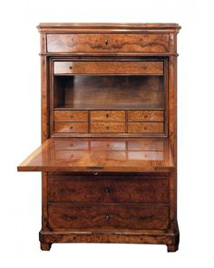 Sekretär - Nussbaum - Biedermeier - Antiquitäten - Antik - Möbel