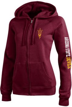 Product: Arizona State University Sun Devils Women's Full-Zip Hooded Sweatshirt
