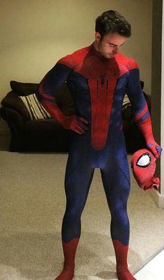 Spiderman sexy cosplay #gay #geek