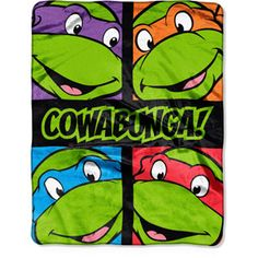 "Nickelodeon Teenage Mutant Ninja Turtles Total Dudes 40"" x 50"" Silk-Touch Throw Ryan"