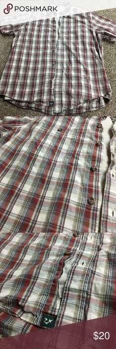 Men's button up shirt with matching t-shirt This is a men's button up shirt with matching T-shirt used condition with no stains, tears or rips. It needs a good ironing but is still is great condition. Both shirts are large. Make an offer want gone asap!!! Shirts Casual Button Down Shirts