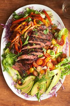 Warm Fajita Steak Salad | Kitchn