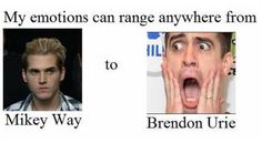 I'm mostly Brendon when it comes to Fangirling XD
