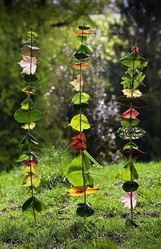 Hanging vines with leaves
