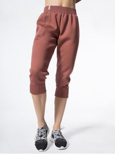 ADIDAS BY STELLA MCCARTNEY Ess 3 4 Pant Clay Red-SMC SWEATPANTS Workout Gear 4b7c64a84