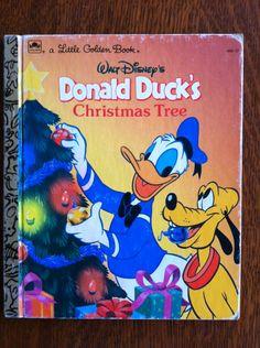 "Vintage ""Donald Duck's Christmas Tree""  Children's Book."