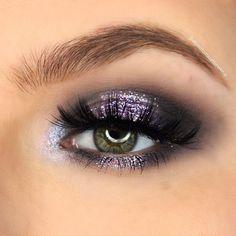Lavender- Glitter Veins- Single pressed glitter