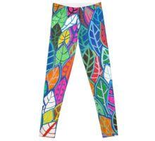 Leaves, Leaves, Leaves Leggings Custom Design, Leaves, Leggings, Pants, Shopping, Bespoke Design, Trousers, Women Pants, Long Johns