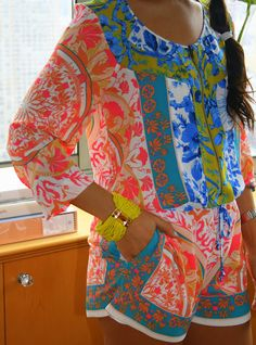 Bright colored romper
