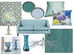 Mydeco Teal Mood Board Duck Egg Blue Living Room Couch