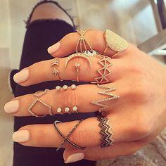 http://www.tempestdesigns.co.uk affordable, wholesale, jewellery efcollection #favorites #putaringonit #colorcoordinated #yellowgold #rosegold #whitegold #blackrhodium #blackdiamond
