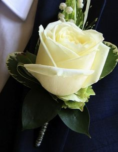 With not so much 'greenery' - smallish white rose for Rich (pink for Ushers) with lily of the valley. Can we have it so the 'stem/stalk' doesn't show?