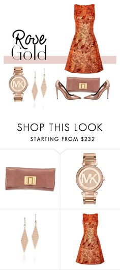 """""""My rose gold accessories"""" by prettykittyzola on Polyvore featuring Louis Vuitton, Michael Kors, Tiffany & Co., Karen Millen and Alexander Wang"""