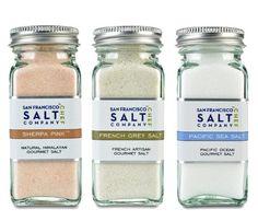 4oz Salt Shaker 3 Pack: Himalayan Salt, French Grey Salt, Pacific Ocean Salt - http://mygourmetgifts.com/4oz-salt-shaker-3-pack-himalayan-salt-french-grey-salt-pacific-ocean-salt/
