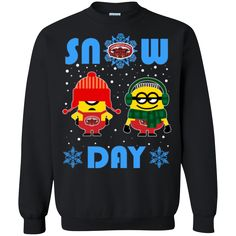 Minion Jacksonville State Gamecocks Ugly Christmas Sweaters Snow Day Snowflake Sweatshirts