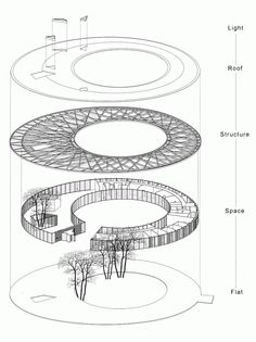 Image 18 of 22 from gallery of Jia Du Clubhouse / Exploded Axonometric Water Architecture, Architecture Concept Drawings, Pavilion Architecture, Architecture Portfolio, Futuristic Architecture, Architecture Design, Architectural Drawings, Sustainable Architecture, Residential Architecture