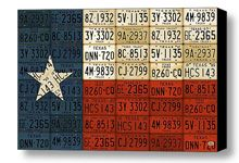 License Plate Art Flag of Texas