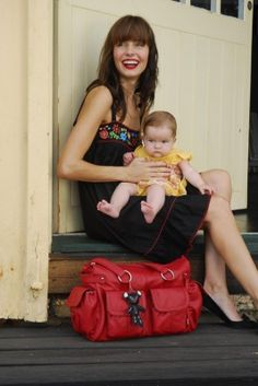 Il Tutto mia nappy bag in red red baby changing bag - Cherish Me Designer Baby Bags, Baby Changing Bags, Baby Store, Dublin, Miami, Maternity, Stylish, Red, Pink