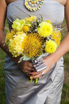 Grey + Yellow Bridesmaid