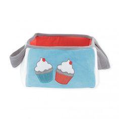 "Cesta de Colonias ""Cupcake"" #cesta #colonia #bebé #cupcake #azul #rojo #kinousses"