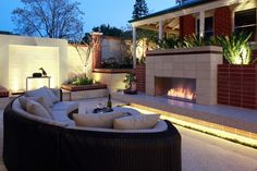 Outdoor feelings with a touch of #fire to keep the element of fun going  #Fireplace