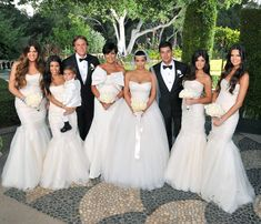 I like the idea of family/ bridesmaids in white.