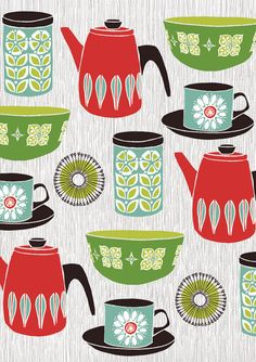 kind of adore this print...would love to use near play kitchen some how