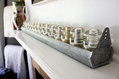 Vintage inspired chicken coop feeder with antique glass insulators @natalme.com