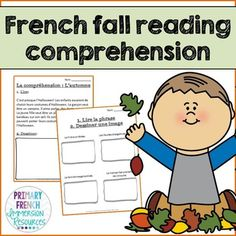 Check out a variety of French resources with fall themed vocabulary! Great for teaching fall vocabulary to Core French and French Immersion students! Reading Comprehension Worksheets, Reading Strategies, Reading Resources, How To Speak French, Learn French, Costume Halloween, Spanish Teaching Resources, French Resources, Teacher Resources