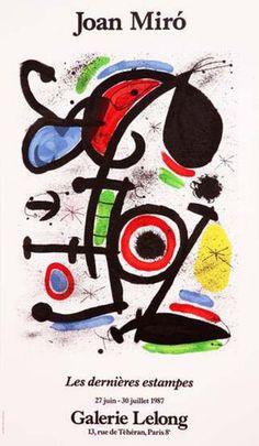 "Afiche ""Galería Lelong"" Joan Miró"