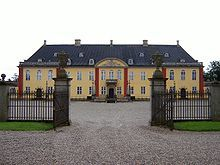 Ledreborg is a palatial mansion near Lejre, 12 km (7.5 mi) to the southwest of Roskilde on the Danish island of Zealand.