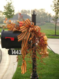 Furniture Mailbox Decorations With Bouquets And Ribbon Decorations Various Creative Ideas For Mailbox Decorations