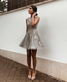 Are you confused about what to use for prom night? How about using a short dress? Short dresses can make you look gorgeous. While short dresses are gr. Hoco Dresses, Homecoming Dresses, Pretty Dresses, Beautiful Dresses, Dress Outfits, Evening Dresses, Casual Dresses, Fashion Outfits, Formal Dresses