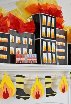 Burning Building Fire in Windows Printable PDF Instant Download