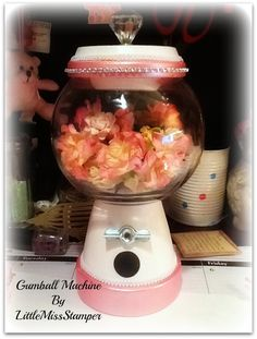DIY Gumball Machine great for organizing and storing your embellishments =)