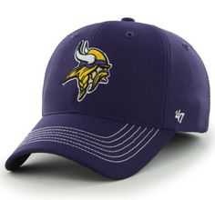 bca1d899eb7 Minnesota Vikings 47 Brand Purple Game Time Closer Performance Flexfit Hat  Cap