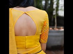 Simple, stylish blouse designs and trendy blouse back, neck designs. Latest simple blouse patterns for front and back neck designs for saree. Simple Blouse Designs, Saree Blouse Neck Designs, Stylish Blouse Design, Latest Blouse Designs, Boat Neck Saree Blouse, Traditional Blouse Designs, Choli Designs, Saree Blouse Patterns, Lehenga Blouse