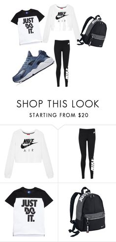 """niked out"" by coolgirlprincess on Polyvore featuring NIKE"