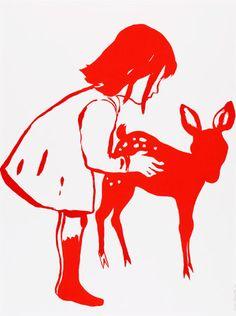 Françoise Pétrovitch - sérigraphie sur papier