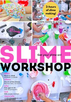 We'd love to see you at one of our upcoming in-person events and workshops! For more information and to sign-up for a workshop hit the link for individual dates/workshops. Winter Slime Workshop Feb. 10, 2018 10AM-12PM LOCATION: Chatsworth Hills Academy STEAM Creative Workshop President's Day Feb. 19, 2018 9AM-2PM LOCATION: Church of the Chimes in Sherman …